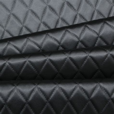 Automotive Upholstery Material by Faux Leather Stitch Embossed Padded Car Upholstery