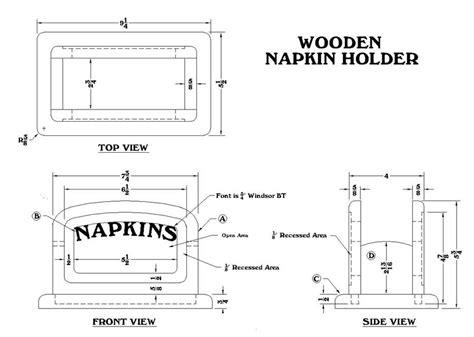 wood napkin holder woodworking plans