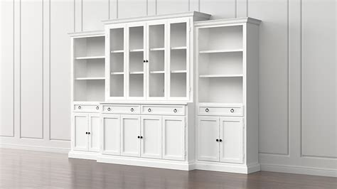 White Bookcases With Glass Doors by Cameo 4 Modular White Glass Door Wall Unit Media