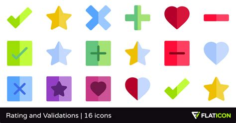 Rating And Validations 16 Free Icons (svg, Eps, Psd, Png