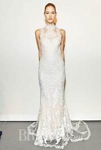 brides gemy maalouf fall 2015 sleeveless high neck With high neck sleeveless wedding dress