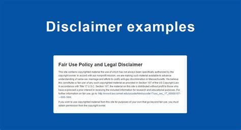 disclaimer examples termsfeed