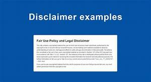 Terms Of Use And Privacy Policy Template Disclaimer Examples TermsFeed