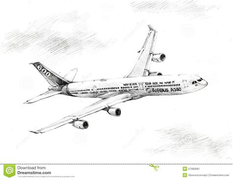Drawn Airplane Airline Pencil And In Color Drawn