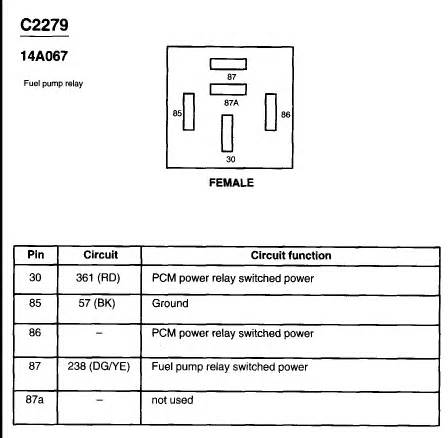 Where Are The Relays For Fuel Pump With