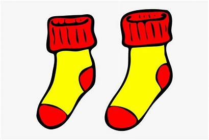 Socks Clip Clipart Cartoon Cliparts Mismatched Netclipart