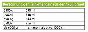 Lebenswoche Berechnen : trinkmenge f r s ugling berechnen tabelle mit bersicht ~ Themetempest.com Abrechnung