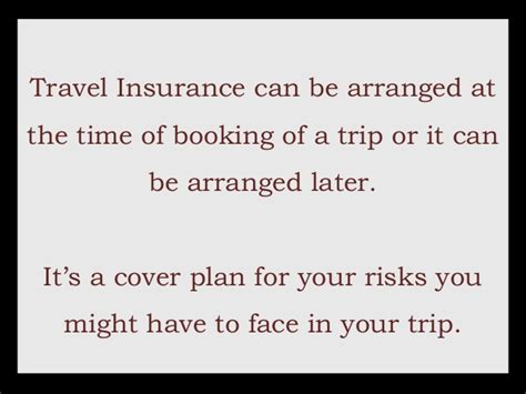 what is the purpose of a cover letter a presentation on travel insurance 8044