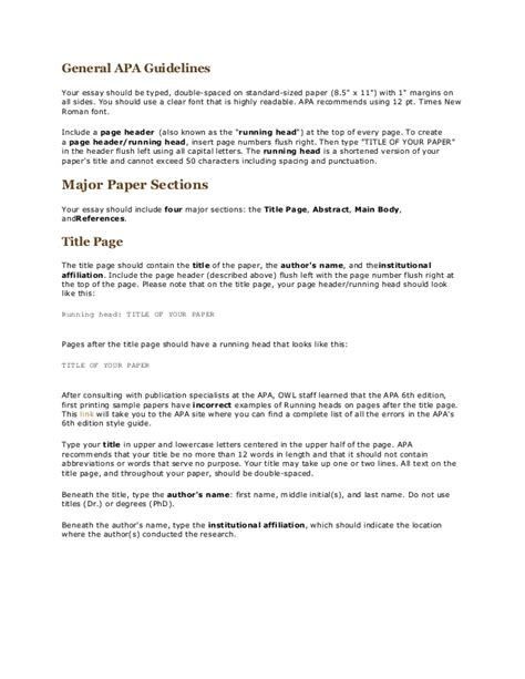 Resume Reference Page Guidelines by General Apa Guidelines