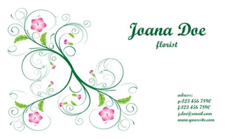 Swirling Floral Business Card Template Vector Business Attire On Pinterest In Mexico No Belt Rain Plan Template Uk Recommended Proposal Design En Espanol