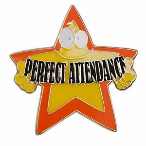 Attendance Award Pin - Perfect Attendance Crazy Star ...