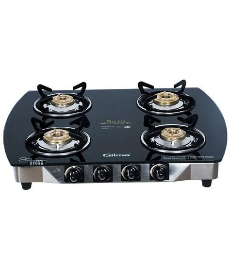 Gilma Nero 4 burner A/I 4 Burners Automatic Price in India
