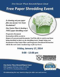 free paper shredding event one senior place With do it yourself document shredding