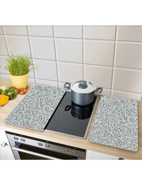 plaque granit cuisine plaques de protection en verre granit 2 pièces