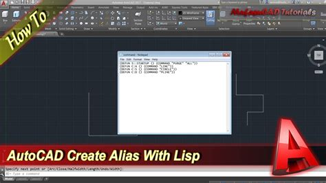 Autocad Tutorial How To Create Your Own Alias Command With
