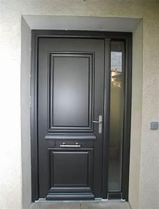 Porte Entrée Aluminium Rénovation : alu menuiserie bernard jean philippe menuiserie ville ~ Edinachiropracticcenter.com Idées de Décoration