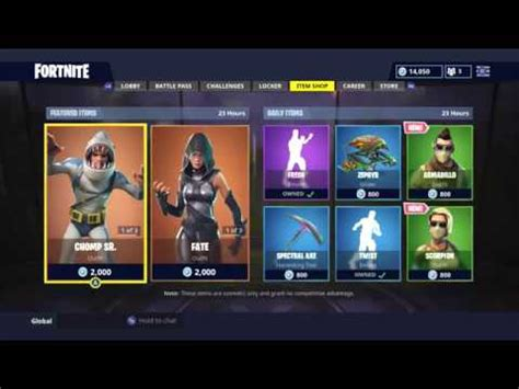 daily item shop today  skins fortnite