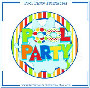Birthday Pool Party Clip Art