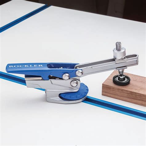 auto lock  track hold  clamp rockler woodworking