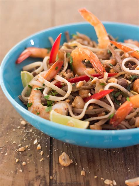 cuisine sans gluten pâtes sans gluten de riz façon pad thaï