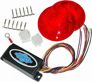 Badlands 6 Pin Plug In Turn Signal Module Red Lenses 86