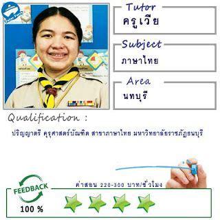 เรียนพิเศษที่บ้าน: สอนภาษาไทย โดยครูเวีย ( ID:12105 ) (มี ...