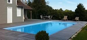 Piscine Enterrée Rectangulaire : houten zwembaden ingegraven en half ingegraven ~ Farleysfitness.com Idées de Décoration