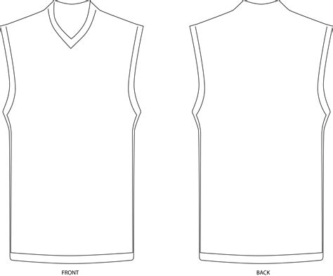 basketball jersey template clipartsco