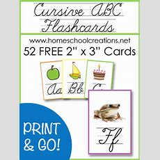 Free Cursive Abc Flashcards And Posters From Homeschool Creations  Free Homeschool Deals