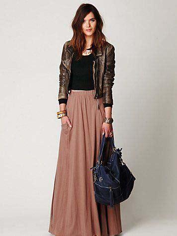 voici comment porter la jupe longue   hijab
