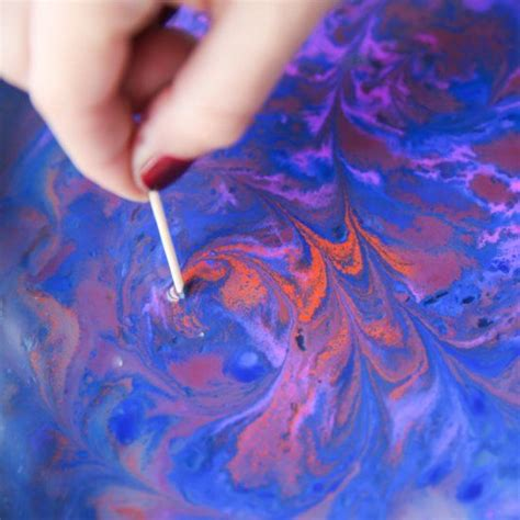 learn  marble paper easily  acrylic paint corn