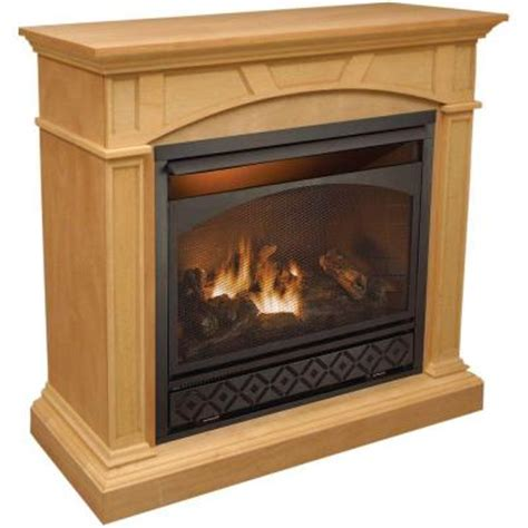 home depot gas fireplace procom 47 in vent free propane gas fireplace in
