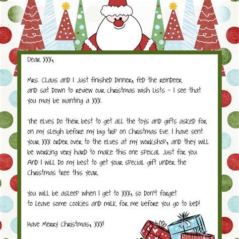 Letter From Santa Template Word Best Letter From Santa Template Letter Format Writing
