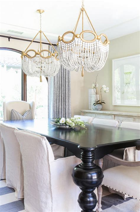 Popular Dining Room Chandeliers by Two Chandeliers Above Table Dining Room With