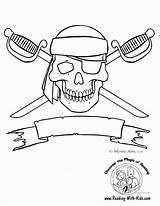 Coloring Printable Skulls Popular Crossbones Skull sketch template