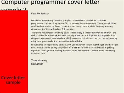 18456 are cover letters necessary 3 computer programmer cover letter