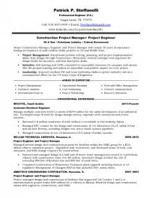 resume sles for and gas company resume for and gas industry sles of resumes