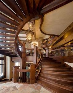 18, Cozy, Rustic, Staircase, Designs, That, You, U0026, 39, Ll, Want, In, Your, Mountain, Home