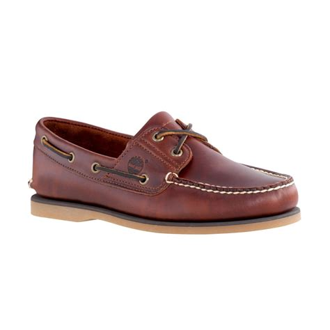 Timberland Boat Shoes by Timberland Timberland Brown 2 Eye N55 Classic Mens Boat