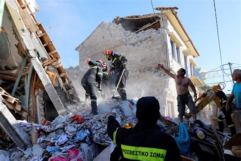earthquake hit village  vrissa  greek island