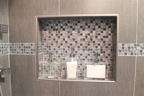 walk in shower tile how to design and build a shower niche by ramcom kitchen