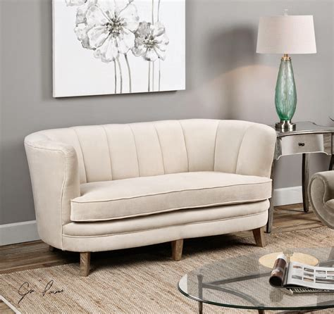 Curved Loveseat by Curved Sofas And Loveseats Reviews Curved Back Sofa