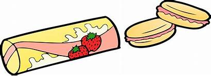 Clipart Snack Snacks Strawberry Clip Makanan Healthy