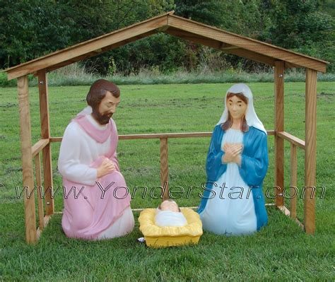 Outdoor Lighted Nativity by Lighted Outdoor Nativity With Stable