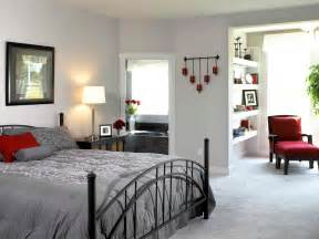 Gray Bedroom Decorating Ideas Modern Bedroom Design With White Wall Interior Color Decor Gray Carpet Tiles And Black Iron