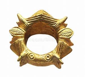 Primitive Gold Bracelet Isolated. Stock Photography ...