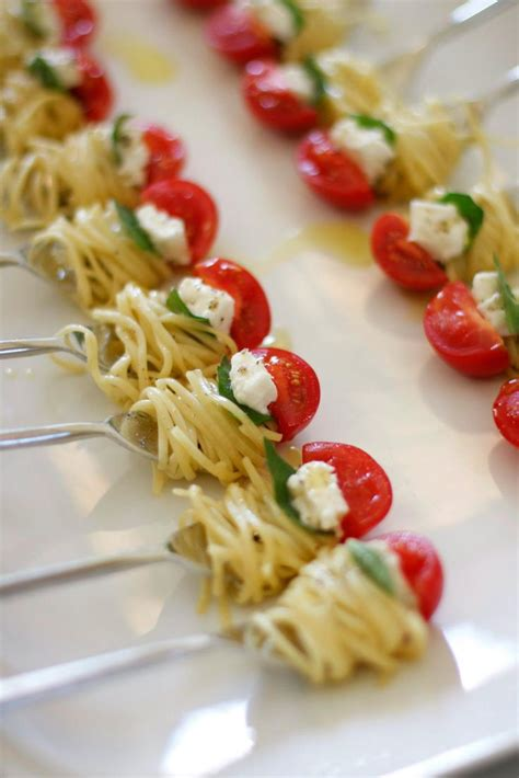 finger food appetizers appetizer fun one bite of pasta the perfect bite appetizers pinterest party appetizers