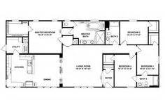 quadruple wide mobile home floor plans  bedroom