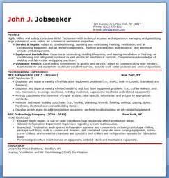hvac tech resume exles hvac technician resume sle resume downloads