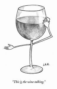 A Glass Of Red Wine Speaks On The Phone by Jason Adam ...